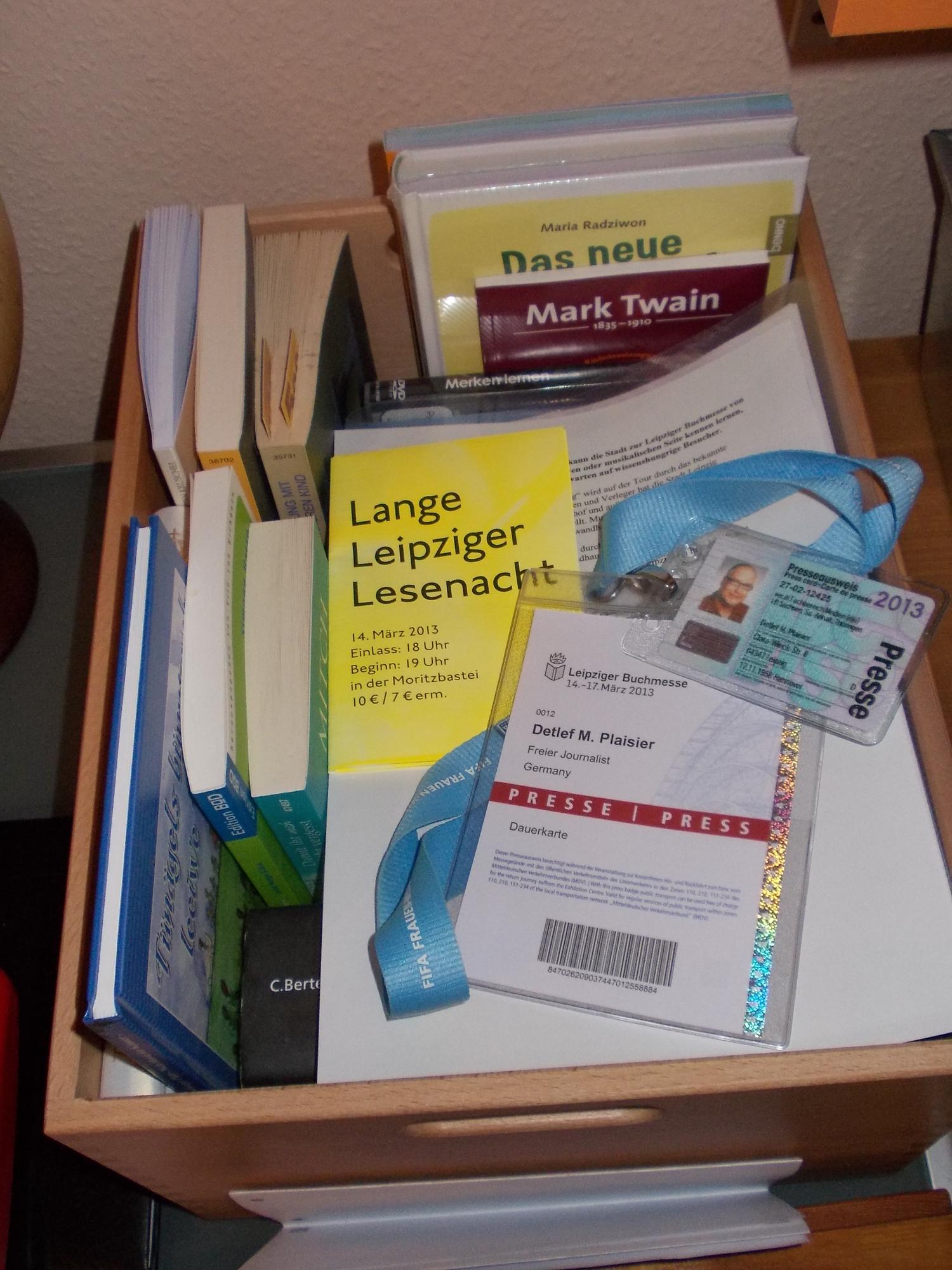 [Der Mann für den Text] Material für die Leipziger Buchmesse 2013
