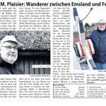 """LeserEcho Emsland Dez 2017: """"Wanderer zwischen Emsland und Fehn"""""""